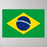 La bandera del Brasil Póster