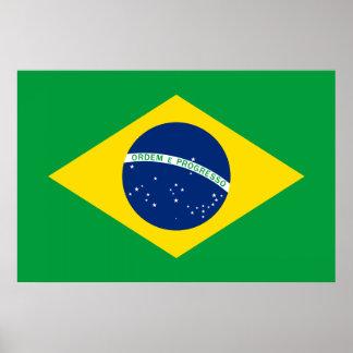 La bandera del Brasil Posters