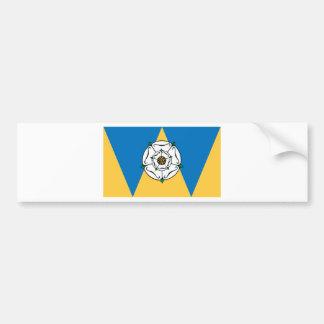La bandera del condado de West Yorkshire Pegatina Para Auto