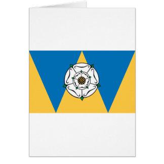 La bandera del condado de West Yorkshire Tarjeta De Felicitación