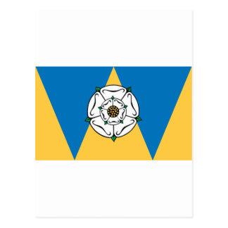 La bandera del condado de West Yorkshire Tarjetas Postales
