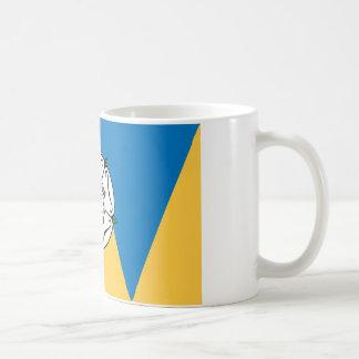 La bandera del condado de West Yorkshire Tazas De Café