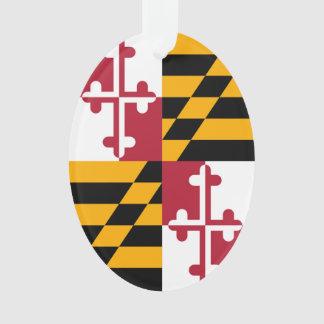 La bandera del estado de Maryland colorea acento