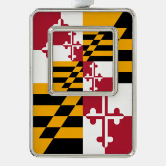 La bandera del estado de Maryland colorea acento Adornos Navideños