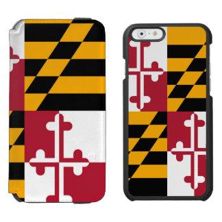 La bandera del estado de Maryland crea para Funda Billetera Para iPhone 6 Watson