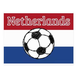 La bandera del fútbol holandés del | tarjeta postal