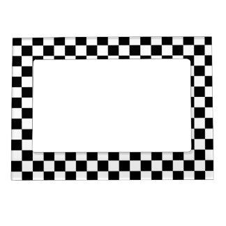 La bandera del inspector marcos magnéticos para fotos