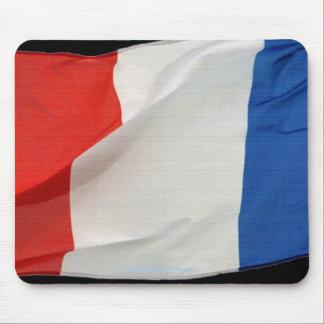La bandera del mundo patriótico de Francia señala Tapetes De Ratón