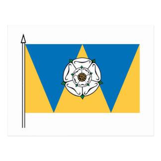 La bandera del oeste de Yorkshirian Postales