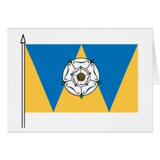 La bandera del oeste de Yorkshirian Tarjeta De Felicitación