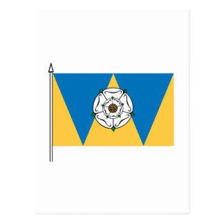 La bandera del oeste de Yorkshirian Tarjeta Postal