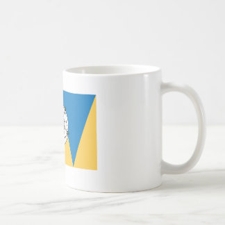 La bandera del oeste de Yorkshirian Tazas De Café
