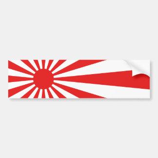 La bandera del sol naciente pegatina para auto