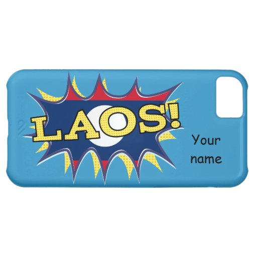 """La bandera del starburst de Laos """"KAPOW"""""""