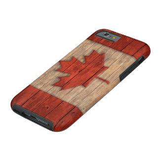 La bandera del vintage de Canadá apenó el diseño Funda De iPhone 6 Tough
