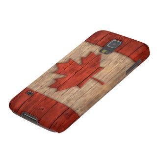 La bandera del vintage de Canadá apenó el diseño Carcasa De Galaxy S5