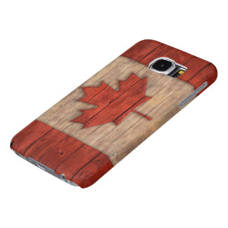 La bandera del vintage de Canadá apenó el diseño Fundas Samsung Galaxy S6