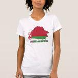 La bandera en el mapa de Bielorrusia Camisetas