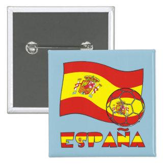 La Bandera Española de Balón de Fútbol y Pin Cuadrada 5 Cm