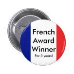¡la bandera francesa, francés concede al ganador,  pins