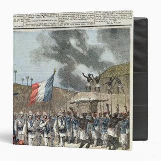 """La bandera francesa que entra en Abomey Carpeta 1 1/2"""""""