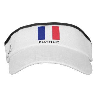La bandera francesa se divierte el gorra del viseras de alto rendimiento
