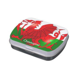 La bandera Galés apenas añade nombre Frascos De Dulces