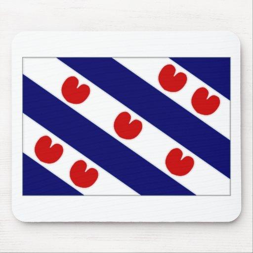 La bandera holandesa de Frisia Tapete De Ratón