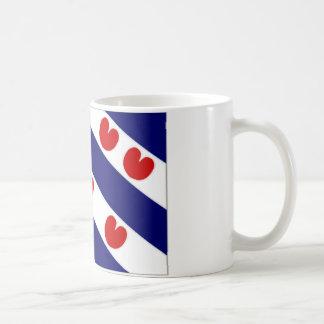 La bandera holandesa de Frisia Taza Clásica