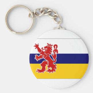 La bandera holandesa de Limburgo Llavero Redondo Tipo Pin