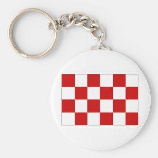 La bandera holandesa de Noord Brabante Llavero Redondo Tipo Pin
