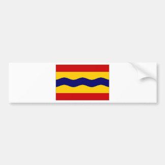 La bandera holandesa de Overijssel Pegatina De Parachoque