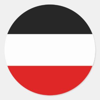 La bandera imperial alemana más barata etiqueta redonda