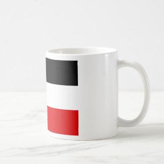 La bandera imperial alemana más barata taza básica blanca