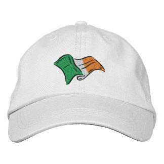 La bandera irlandesa de Irlanda bordó en un casqui Gorras Bordadas