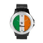 La bandera irlandesa mira el | Personalizable con Relojes
