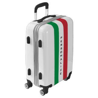 La bandera italiana de encargo continúa la maleta