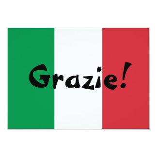 """La bandera italiana le agradece invitación 5"""" x 7"""""""