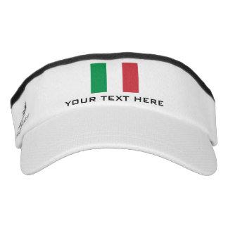 La bandera italiana se divierte el gorra del viseras de alto rendimiento