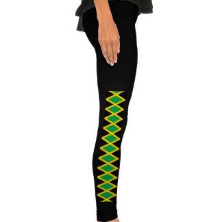 La bandera jamaicana modela las polainas