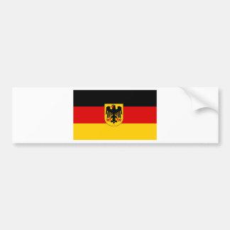 La bandera más barata del estado alemán pegatina para auto