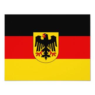 La bandera más barata del estado alemán invitación 10,8 x 13,9 cm