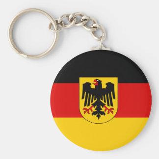 La bandera más barata del estado alemán llavero redondo tipo pin