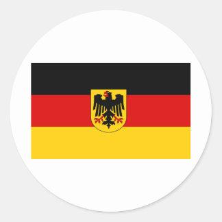 La bandera más barata del estado alemán pegatina redonda