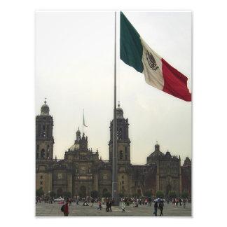 La Bandera Mexica de la estafa del EL Zocalo del D Fotografía