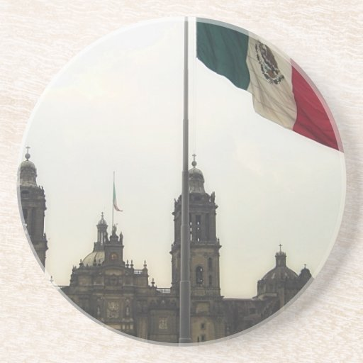 La Bandera Mexica de la estafa del EL Zocalo del D Posavaso Para Bebida