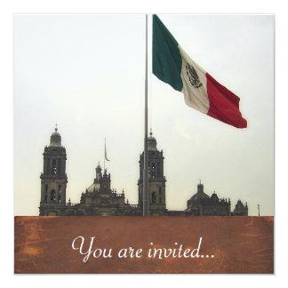 La Bandera Mexica de la estafa del EL Zocalo del Invitación