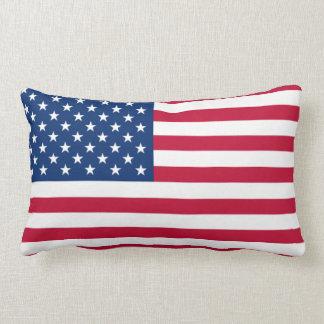 La bandera nacional de los Estados Unidos de Améri Cojin