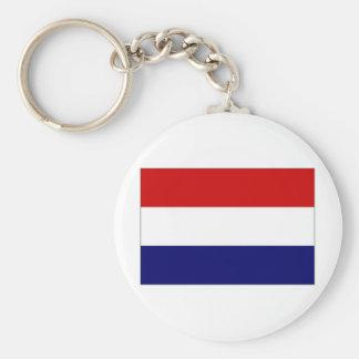 La bandera nacional holandesa llavero redondo tipo pin