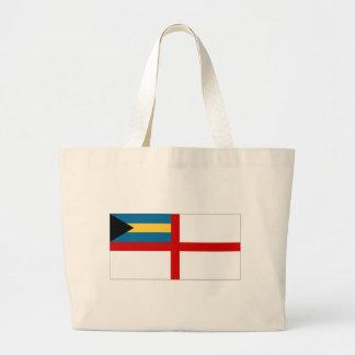 La bandera naval de Bahamas Bolsas De Mano